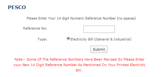 Pesco Duplicate Bill Copy