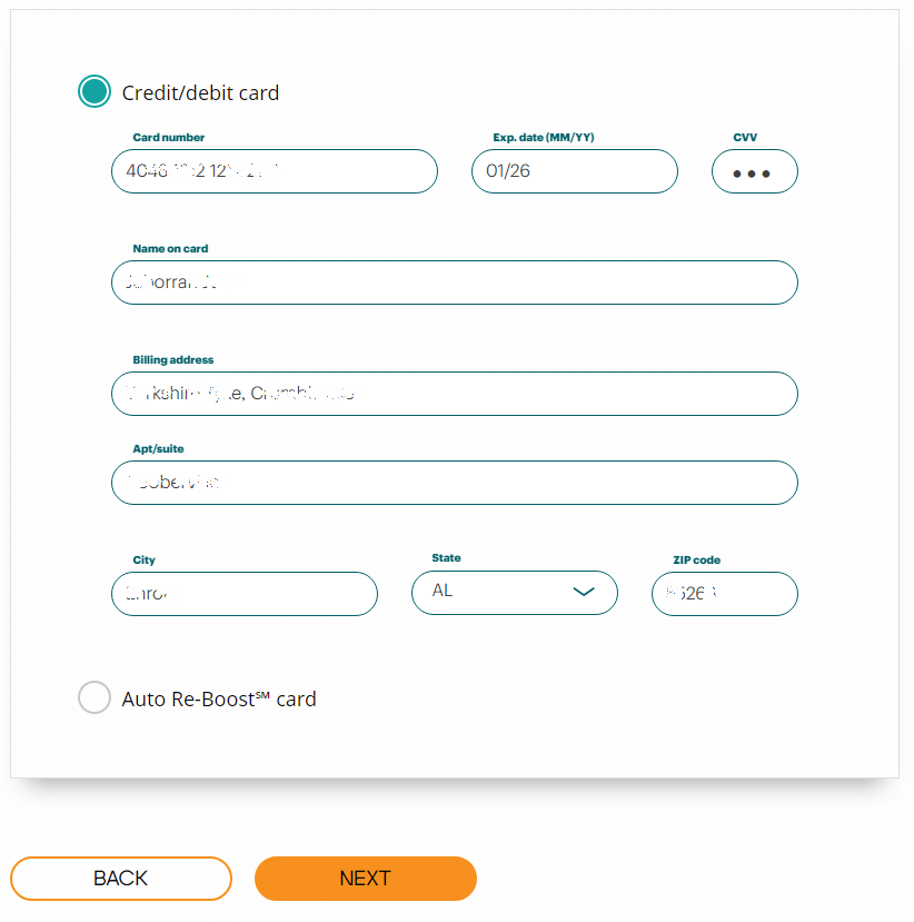 Boost One Time Guest Pay